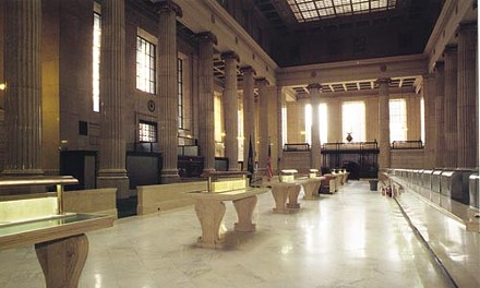 Things that aren't there anymore: The vanished interior of Downtown's old Mellon Bank. - PHOTO COURTESY OF FRANK STOKER AT PITTSBURGH HISTORY & LANDMARKS FOUNDATION.