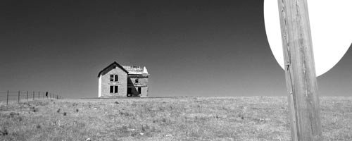 """This land is your land: """"Abandoned Homestead, Highway 36, Northern Kansas,"""" by Jim Schafer."""