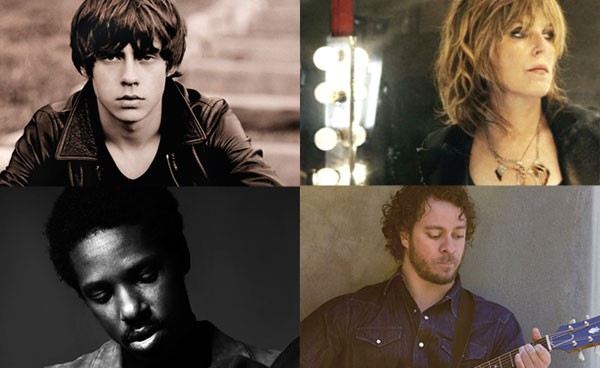 This year's Three Rivers Arts Festival lineup includes, clockwise from top left: Jake Bugg, Amos Lee, Lucinda Williams and Curtis Harding