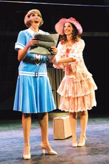 Thoroughly entertaining: Jessica Ernest (left) and Fredi Bernstein in Point Park's Thoroughly Modern Millie - PHOTO COURTESY OF DREW YENCHAK