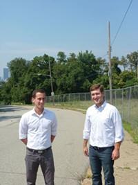 Tim Dolan and Aaron Sukenik, of the Hilltop Alliance - PHOTO BY LAUREN DALEY