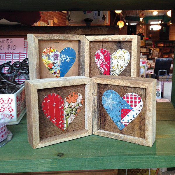 Tin hearts from Worker Bird