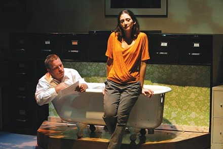 Todd Betker and Liz Roberts in No Name Players' The Mistakes Madeline Made. - PHOTO COURTESY OF LARISSA PETRUCCI