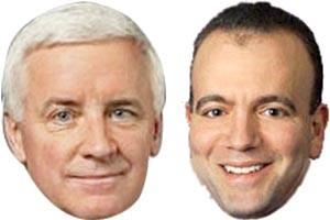 Tom Corbett (left) and Dan Onorato
