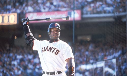 Too big to fail: Barry Bonds, in happier times, from Baseball: The Tenth Inning.