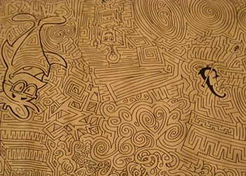 Toonseum Director Attempts Drawing World-Record Maze