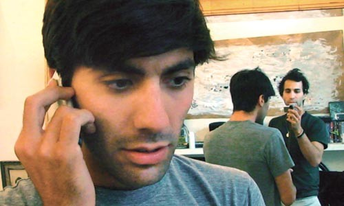Trouble on the line: Nev Schulman takes a call.