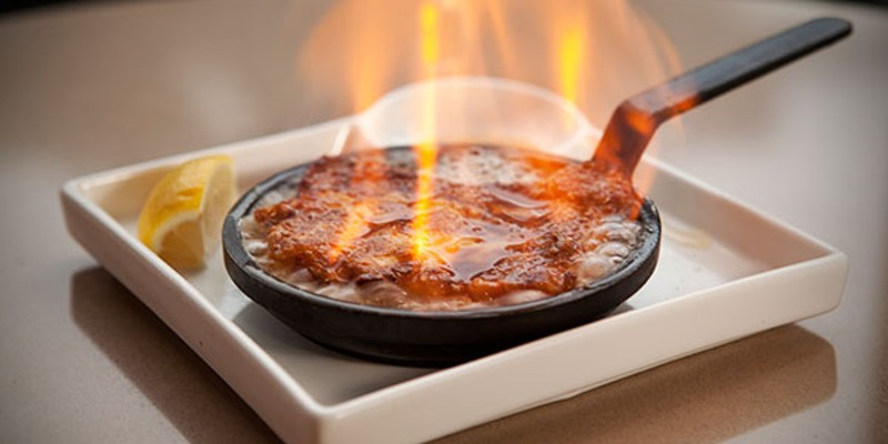 Truth Truth Lounge's Flaming Saganaki Photo by Heather Mull
