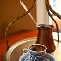 Daphne Turkish coffee at Daphne Photo by Heather Mull