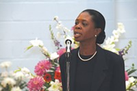 Twanda Carlisle on the campaign trail in 2007, while under indictment - PHOTO BY CHARLIE DEITCH