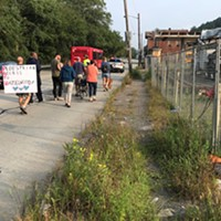 Hazelwood residents march for better pedestrian access out of their neighborhood