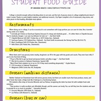 College Student Food Guide: Cheap, Easy, and (Relatively) Healthy