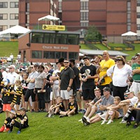 Fans watch practice at training camp