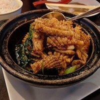 Basil squid at Taiwanese Bistro Cafe 33