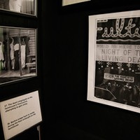 A photo from opening night at Fulton Theater, on display at the <i>Night of the Living Dead</i> Museum in Evans City