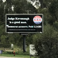 North Huntingdon billboard in support of Brett Kavanaugh says 'Democrat accusers' are 'paid liars'