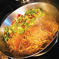 Gab Bonesso makes Double-Pan Fried Spaghetti