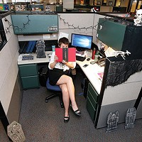 Amanda Waltz at her desk.