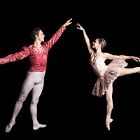 "William Moore and Gabrielle Thurlow in George Balanchine's ""Divertimento No. 15"""