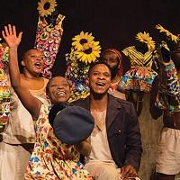 Chuma Sopotela and Bongile Mantsai in <i>Karoo Moose - No Fathers</i>
