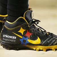 Roethlisberger wore custom cleats honoring the victims of the Tree of Life synagogue mass shooting.