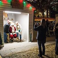 Santa visits the Holiday Market in Market Square.