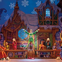 Matt Kopec as Buddy with the cast of Elf the Musical