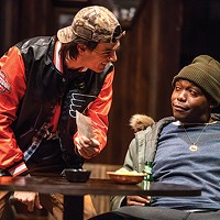 Patrick Cannon (Jason) and Ananias J. Dixon (Chris) in Sweat