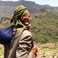 Mokhtar Alkhanshali overlooking coffee terraces in the region of Bura in Yemen