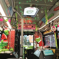 This holiday bus favors the Grinch.