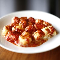 The housemade potato gnocchi