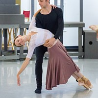 PBT dancers Lucius Kirst and Alexandra Kochis in rehearsal