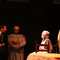 From left: Jonathan Berry, Cheryl El-Walker, Aaliyah Sanders, and Wali Jamal in <i>Savior Samuel</i>