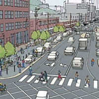 Smallman Street redesign includes bike lanes, angled parking, and a public plaza