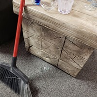 Accidents will happen. Put a broom in front of any broken glass and get back to drinking!