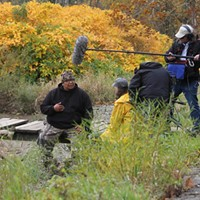<i>Lake of Betrayal</i> film crew interviews subject Ed Buffalo