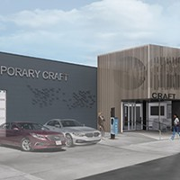 Rendering of Contemporary Craft Lawrenceville space