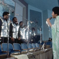 Aretha Franklin singing with the Southern California Community Choir.