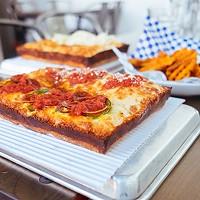 Michigan & Trumbull pizza
