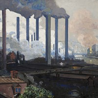 Johanna K. W. Hailman, <i>Jones and Laughlin Mill, Pittsburgh </i>(detail)