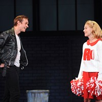 Zach Adkins (Danny) and Kirsten Martin (Sandy) in <i>Grease</i>