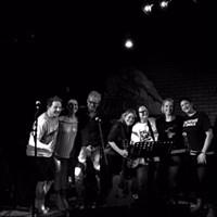 Damaged Pies' new lineup. Left to right: Mark Pintea, Megan Paullet, Steve Bodner, Marjie Pintea, Jerri Collins, Amy Withrow, Jenna DiFrancisco