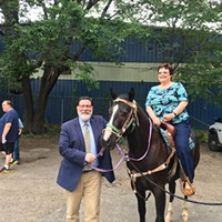 Bill Peduto and Darlene Harris at the groundbreaking ceremony for Allegheny Stables