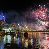 Fireworks in Downtown Pittsburgh