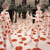 "Yayoi Kusama's ""Repetitive Vision,"" part of the Mattress Factory's permanent collection"