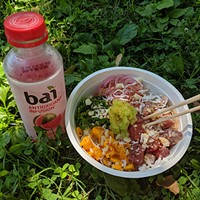 Tuna poke bowl from Just Roll'd Up