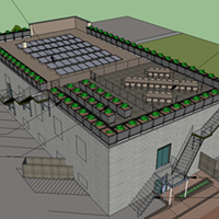 Rendering of Spirit's Rooftop Garden project