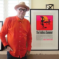 John Van Hamersveld with his original <i>The Endless Summer</i> poster design
