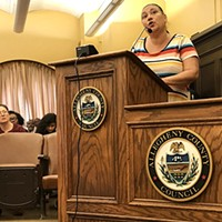 Michelle Kenney, mother of Antwon Rose II, at Wednesday's County Council meeting