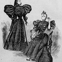 """Modish Mourning Attire,"" published in <i>The Times</i>, Philadelphia on Dec. 15, 1895."
